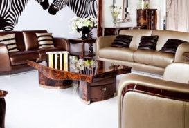 Luxusní, designový, art deco, kvalitní nábytek, interiéry Viola DESING 882 - obývací pokoj, sedací souprava, konferenční stolek, komoda