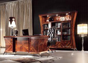 Luxusní, designový, art deco, kvalitní nábytek, interiéry Řada DESING 880 - luxusní kancelář,pracovní stůl, knihovna, pracovní židle