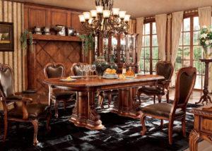 Repliky starožitného nábytku, Luxusní, stylový,hitorizující, zámecký, kvalitní nábytek, interiéry Řada ROYAL M03 - luxusní jídelna, jídelní stůl rozkládací, židle, židle spodručkami, skleník, stojan na květiny