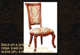 Repliky starožitného nábytku, Luxusní, stylový, historizující, zámecký, kvalitní nábytek, interiéry Viola ROYAL 221 - jídelna, židle