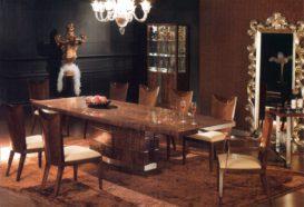 Luxusní, designový, art deco, kvalitní nábytek, interiéry Viola DESING 836 - jídelna, jídelní stůl, židle, skleník, servírovací stolek, zrcadlo