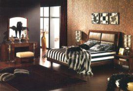 Luxusní, designový, art deco, kvalitní nábytek, interiéry Viola DESING 836 - ložnice, postel, noční stolek, komoda, zrcadlo, taburet