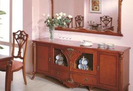 Repliky starožitného nábytku, Luxusní, stylový, historizující, zámecký, kvalitní nábytek, interiéry Viola ROYAL 108 - jídelna, komoda, zrcadlo, židle
