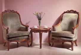 Repliky starožitného nábytku, Luxusní, stylový, historizující, zámecký, kvalitní nábytek, interiéry Viola ROYAL 108 - obývací pokoj, křeslo, stolek