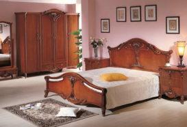 Repliky starožitného nábytku, Luxusní, stylový, historizující, zámecký, kvalitní nábytek, interiéry Viola ROYAL 108 - ložnice, postel. noční stolek, skříň, zrcadlo