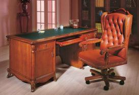 Repliky starožitného nábytku, Luxusní, stylový, historizující, zámecký, kvalitní nábytek, interiéry Viola ROYAL 108 - kancelář. pracovní stůl, kancelářské křeslo, stojan, knihovna, skleník, vitrína