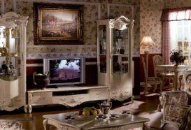 Repliky starožitného nábytku, Luxusní, stylový, historizující, zámecký, kvalitní nábytek, interiéry Viola ROYAL 108 - obývací pokoj, sedací souprava, konferenční stolek, skleník, vitrína, komoda
