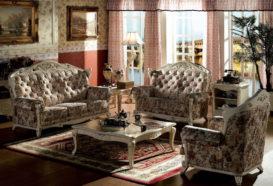 Repliky starožitného nábytku, Luxusní, stylový, historizující, zámecký, kvalitní nábytek, interiéry Viola ROYAL 108 - obývací pokoj, sedací souprava, konferenční stolek