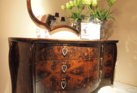 Luxusní, designový, art deco, kvalitní nábytek, interiéry Viola DESING 882 - ložnice, komoda. zrcadlo