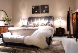 Luxusní, designový, art deco, kvalitní nábytek, interiéry Viola DESING 882 - ložnice, postel, komoda, noční stolek, věšák, zrcadlo