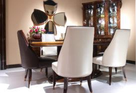 Luxusní, designový, art deco, kvalitní nábytek, interiéry Viola DESING 882 - jídelna, židle, stůl, skleník, vitrina, zrcadlo